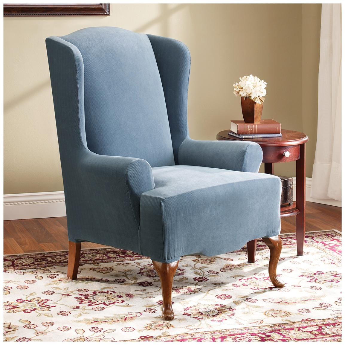 Best ideas about Sure Fit Chair Covers . Save or Pin Sure Fit Stretch Pearson Wing Chair Slipcover Now.