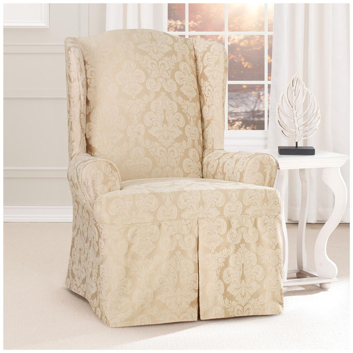 Best ideas about Sure Fit Chair Covers . Save or Pin Sure Fit Middleton Wing Chair Slipcover Now.
