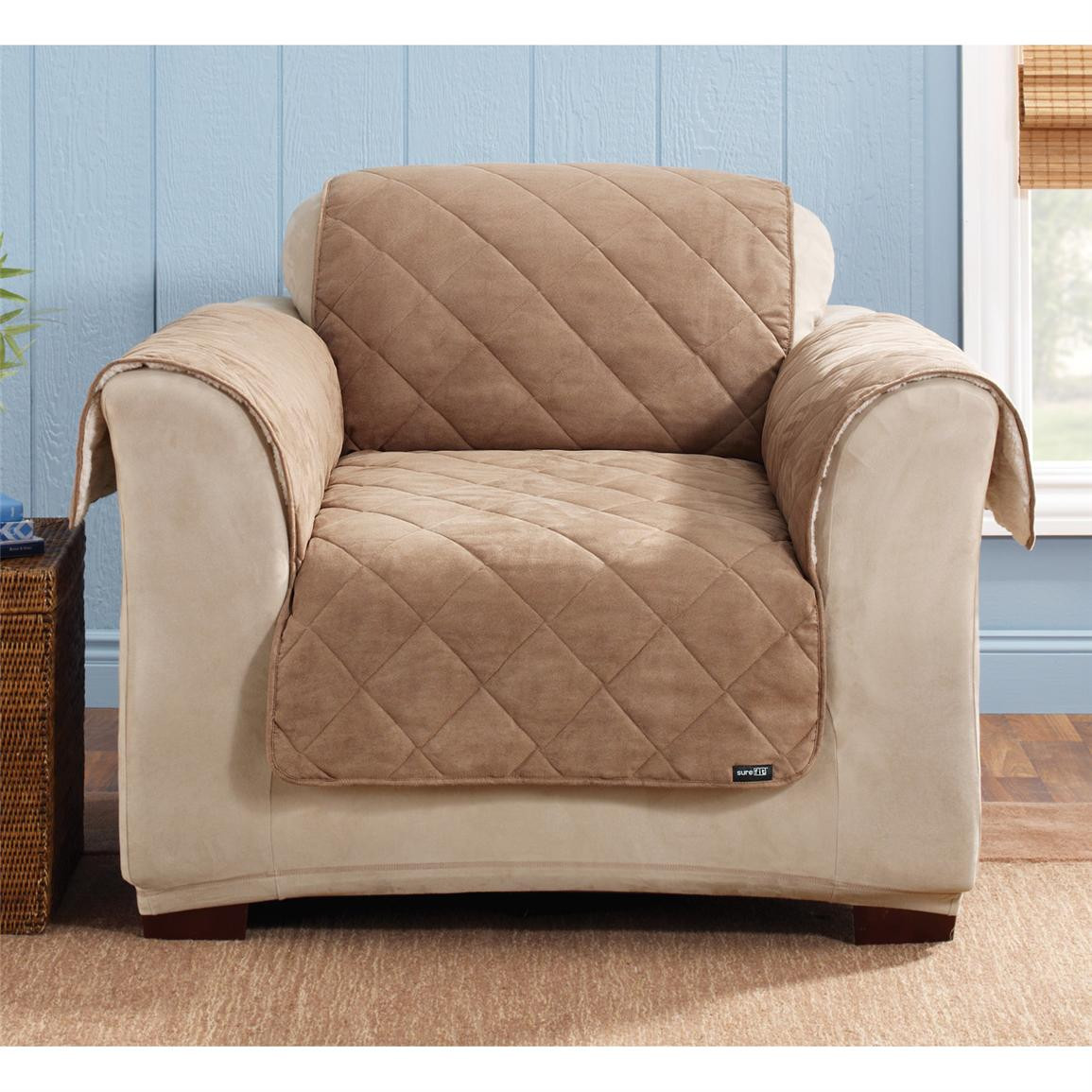Best ideas about Sure Fit Chair Covers . Save or Pin Sure Fit Reversible Suede Sherpa Chair Pet Cover Now.