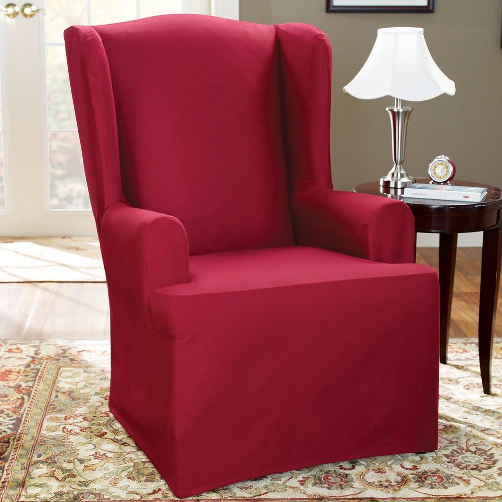 Best ideas about Sure Fit Chair Covers . Save or Pin Sure Fit Slipcovers Cotton Duck Wing Chair Now.