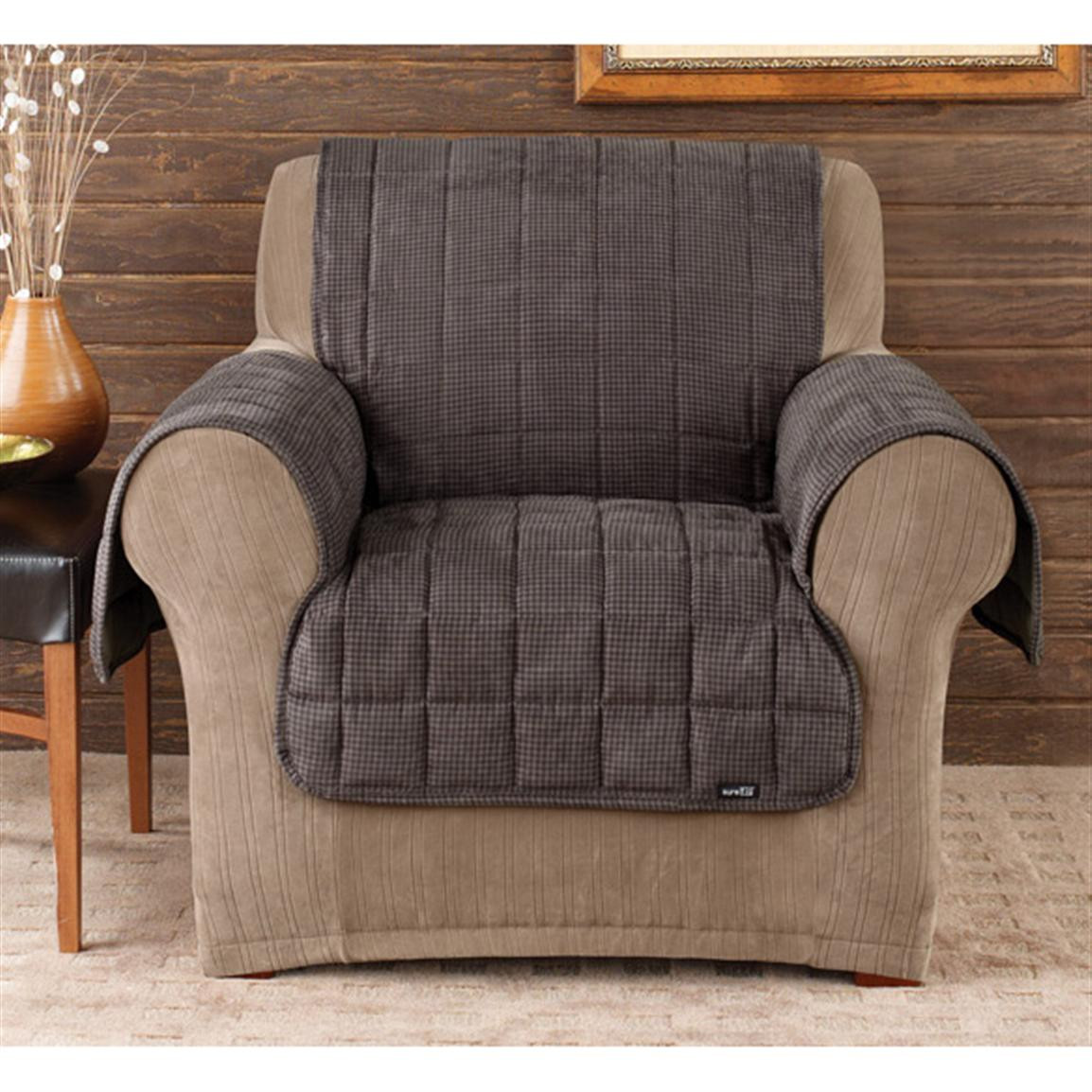 Best ideas about Sure Fit Chair Covers . Save or Pin Sure Fit Deluxe Velvet Mini check Chair Pet Cover Now.