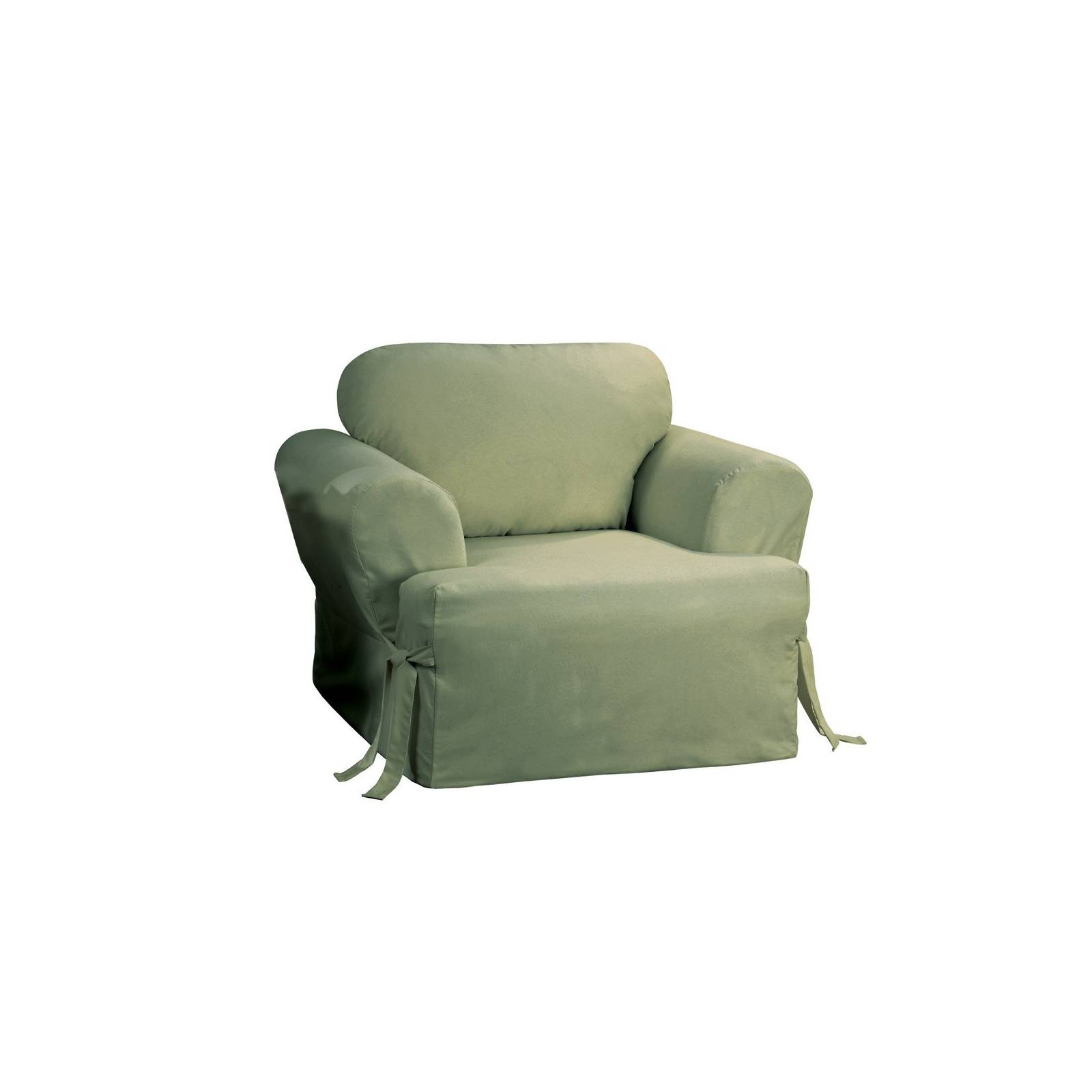 Best ideas about Sure Fit Chair Covers . Save or Pin Cotton Duck Tcushion Chair Slipcover Sure Fit Now.