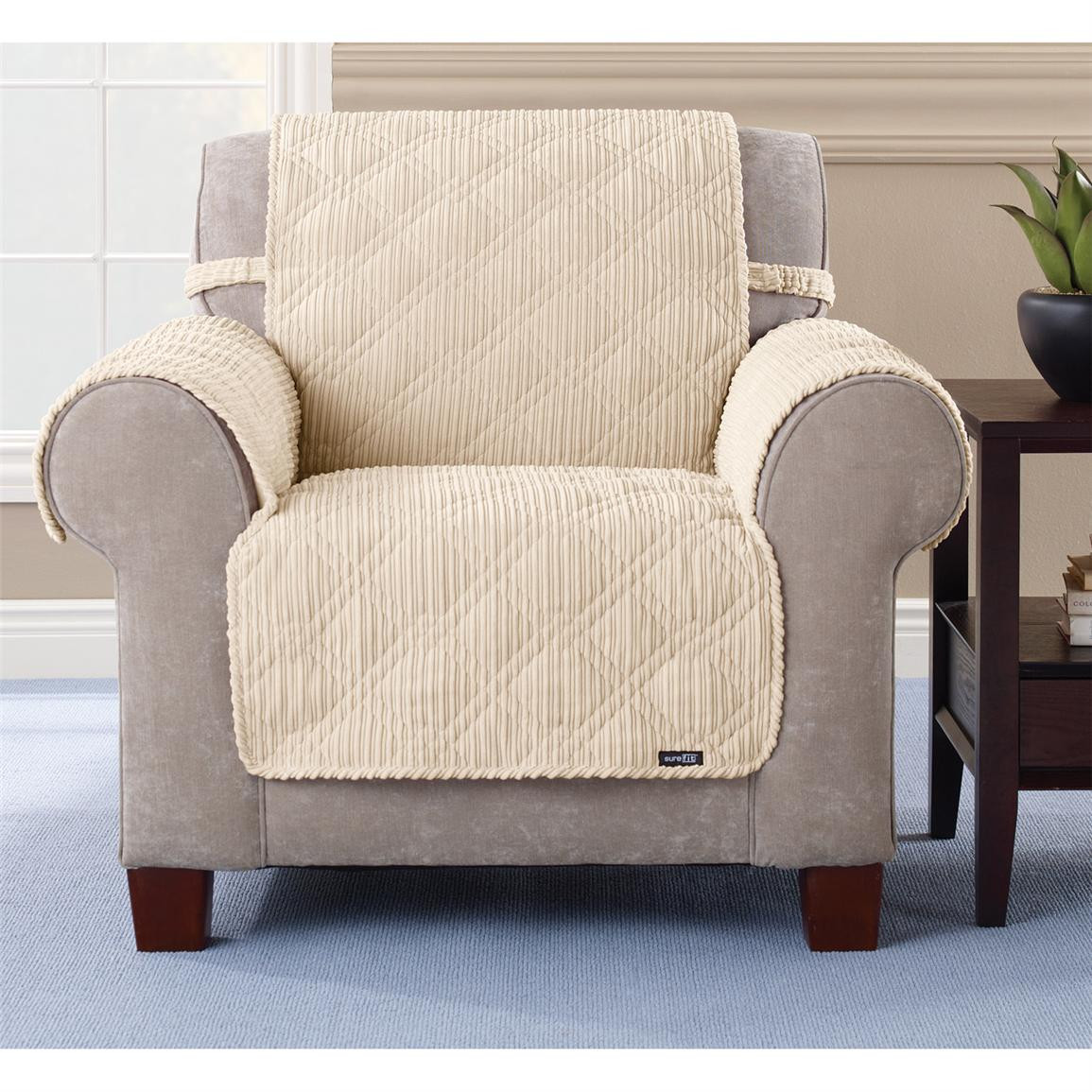 Best ideas about Sure Fit Chair Covers . Save or Pin Sure Fit Quilted Corduroy Chair Pet Cover Now.