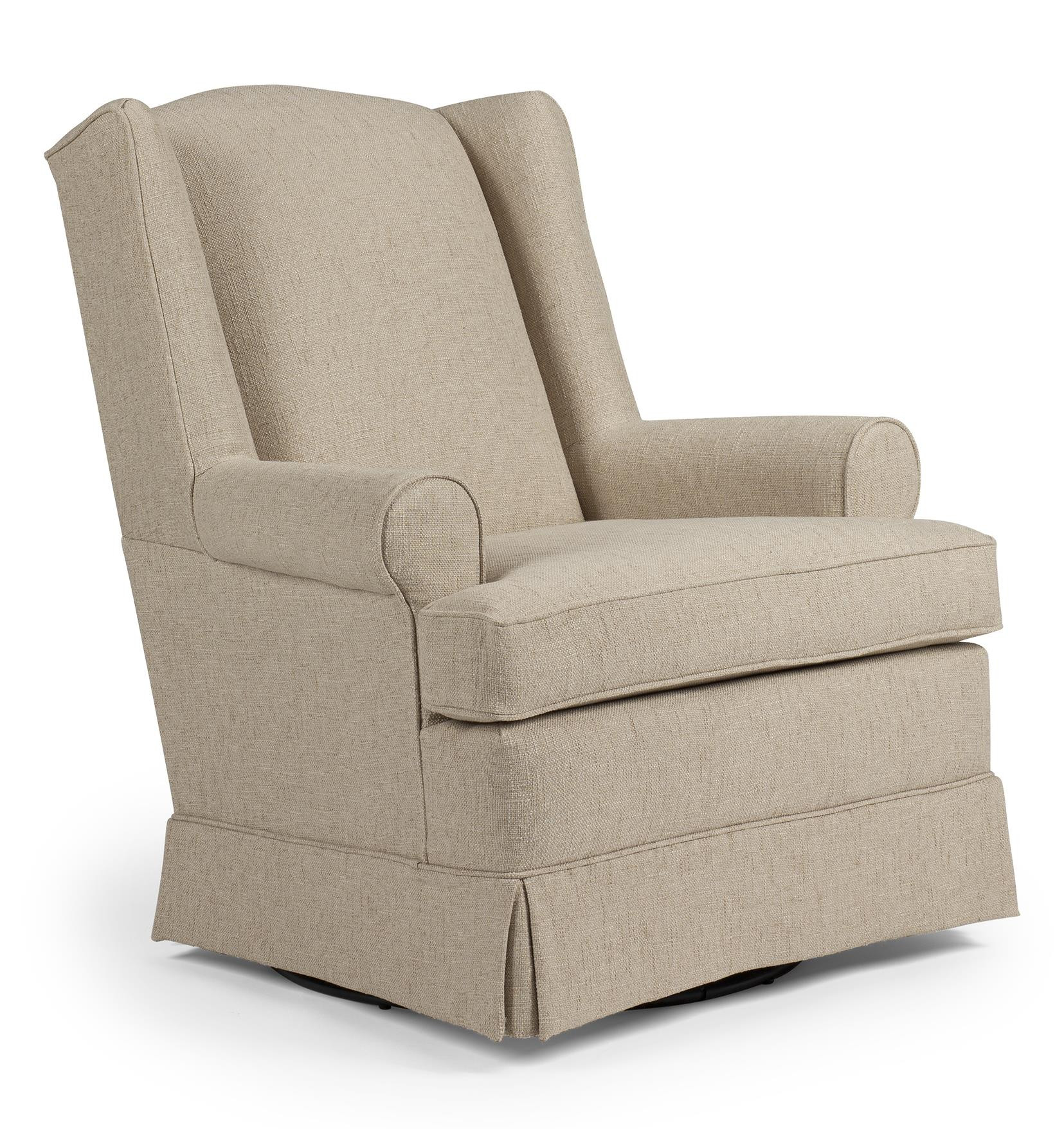 Best ideas about Swivel Glider Chair . Save or Pin Roni Skirted Swivel Glider Chair by Best Home Furnishings Now.