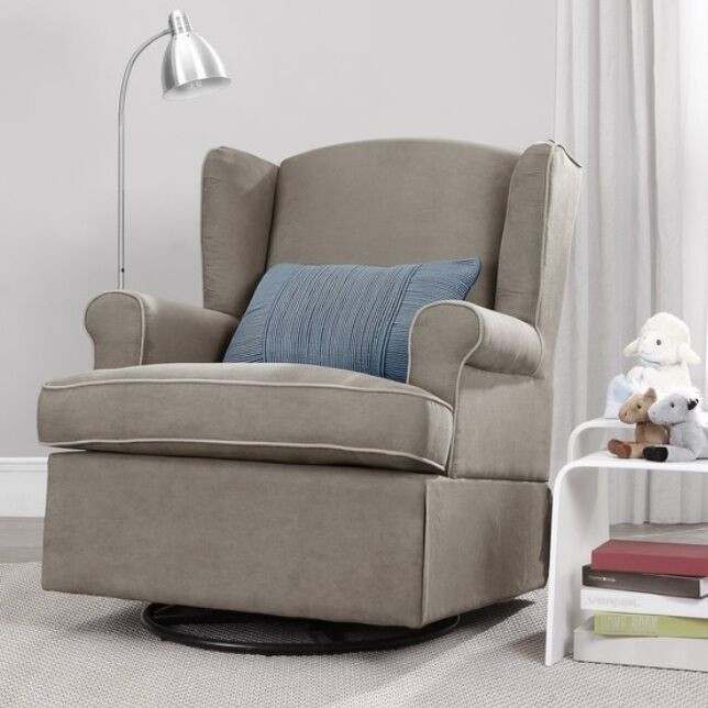 Best ideas about Swivel Glider Chair . Save or Pin Taupe Swivel Glider Chair Nursery Furniture Baby Relax Now.