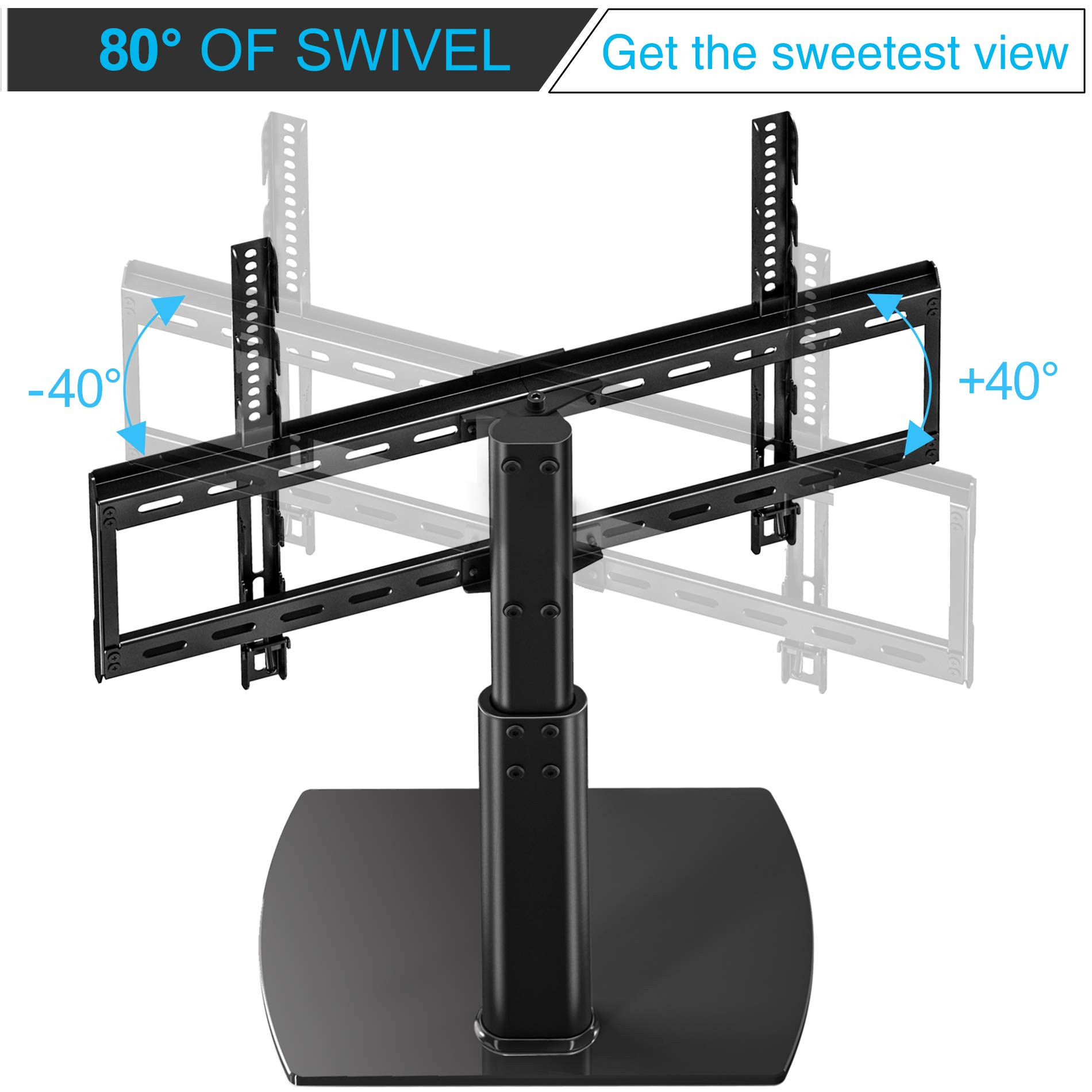 Best ideas about Table Top Swivel Tv Stand . Save or Pin Fitueyes Universal TV Stand Base Swivel Tabletop TV Stand Now.