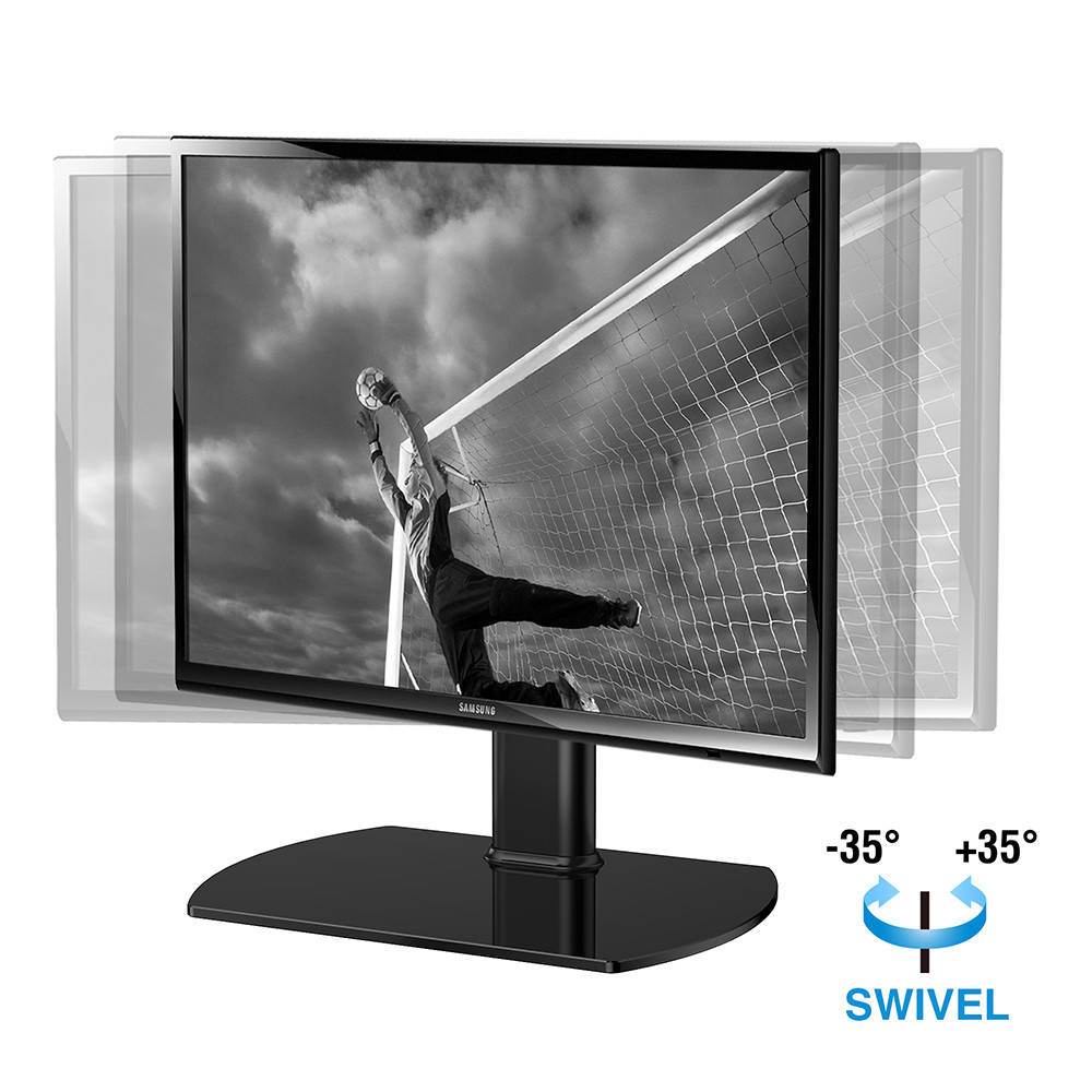 Best ideas about Table Top Swivel Tv Stand . Save or Pin Table Top Universal TV Stand With Mount Pedestal Base Now.