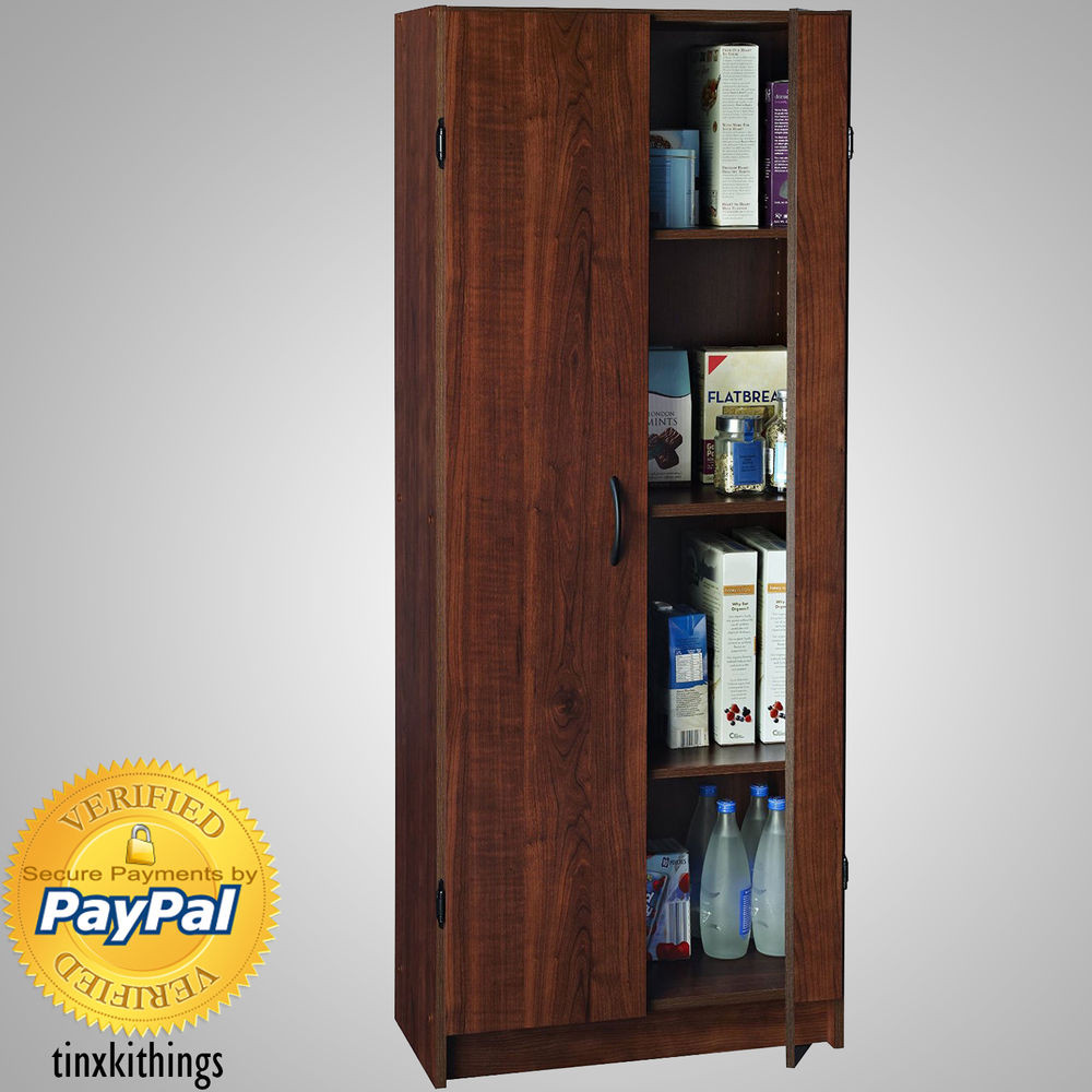 Best ideas about Tall Pantry Cabinet . Save or Pin Wooden Tall Pantry Cabinet Storage Organizer Kitchen Bath Now.