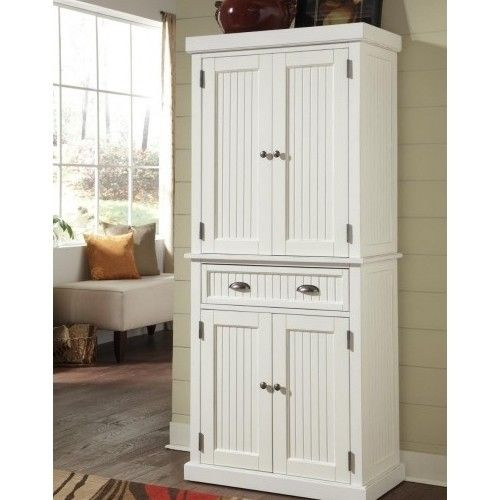 Best ideas about Tall Pantry Cabinet . Save or Pin Tall Wood Pantry Linen Cabinet Kitchen Bathroom Cupboard Now.