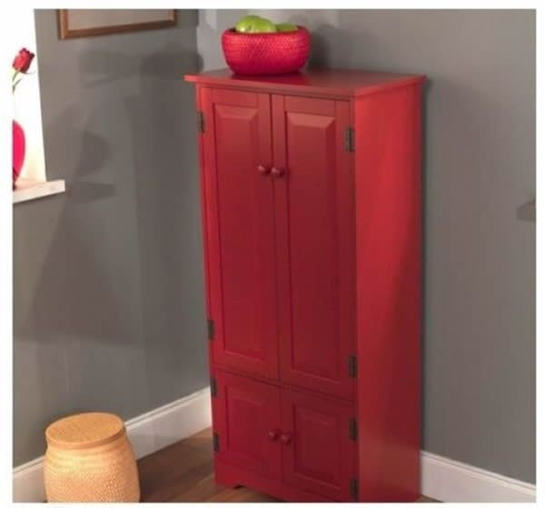 Best ideas about Tall Pantry Cabinet . Save or Pin Red Tall Cabinet Storage Kitchen Pantry Organizer Now.