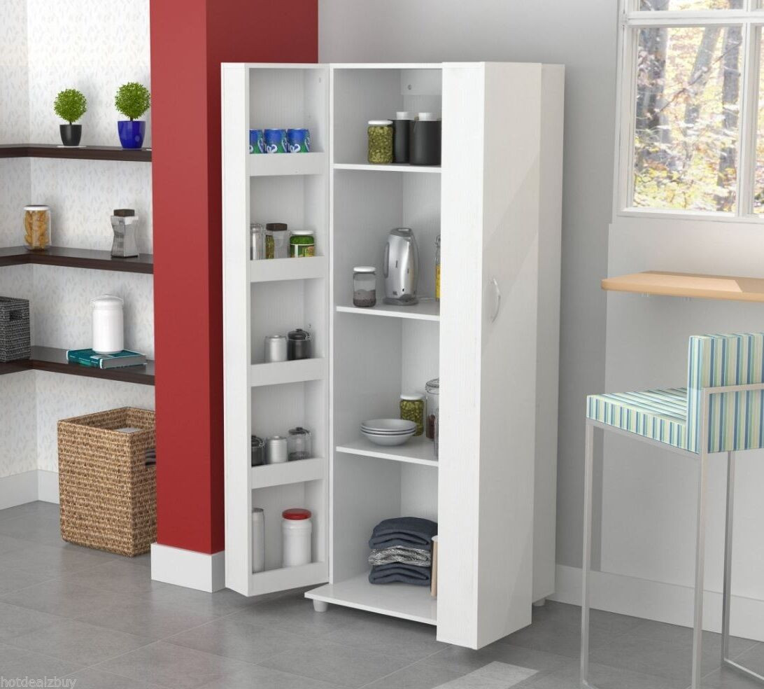 Best ideas about Tall Pantry Cabinet . Save or Pin Tall Kitchen Cabinet Storage White Food Pantry Shelf Now.