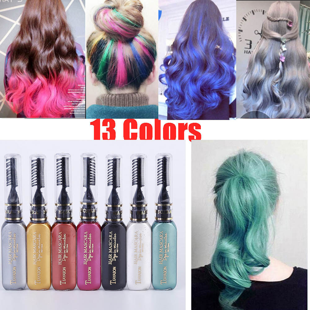 Best ideas about Temporary Hair Color DIY . Save or Pin 13 colors one time hair color DIY Hair Dye Temporary Non Now.