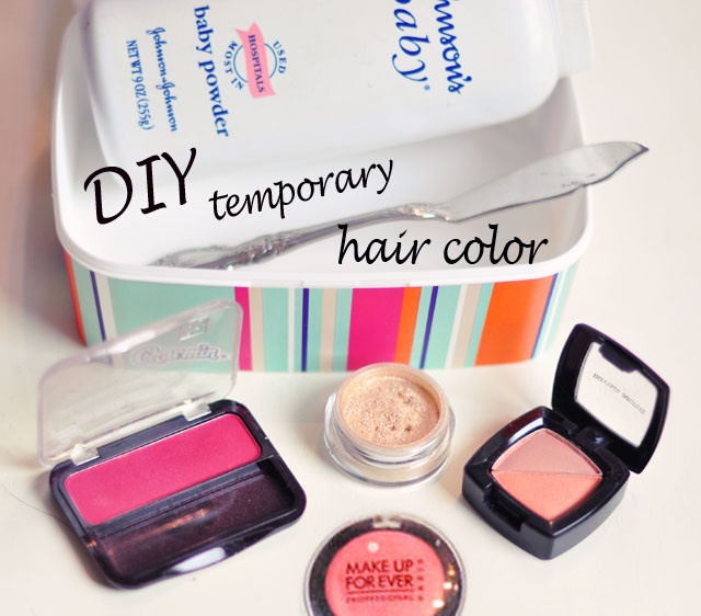 Best ideas about Temporary Hair Color DIY . Save or Pin DIY Temporary Hair Color Using Eye Shadow Now.