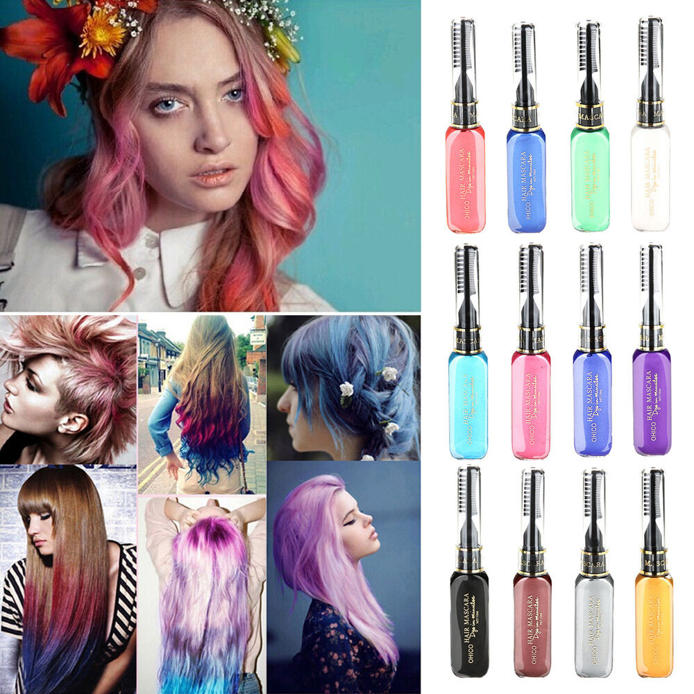 Best ideas about Temporary Hair Color DIY . Save or Pin 1PC set Hair Dye Color Easy Temporary Non toxic DIY Hair Now.