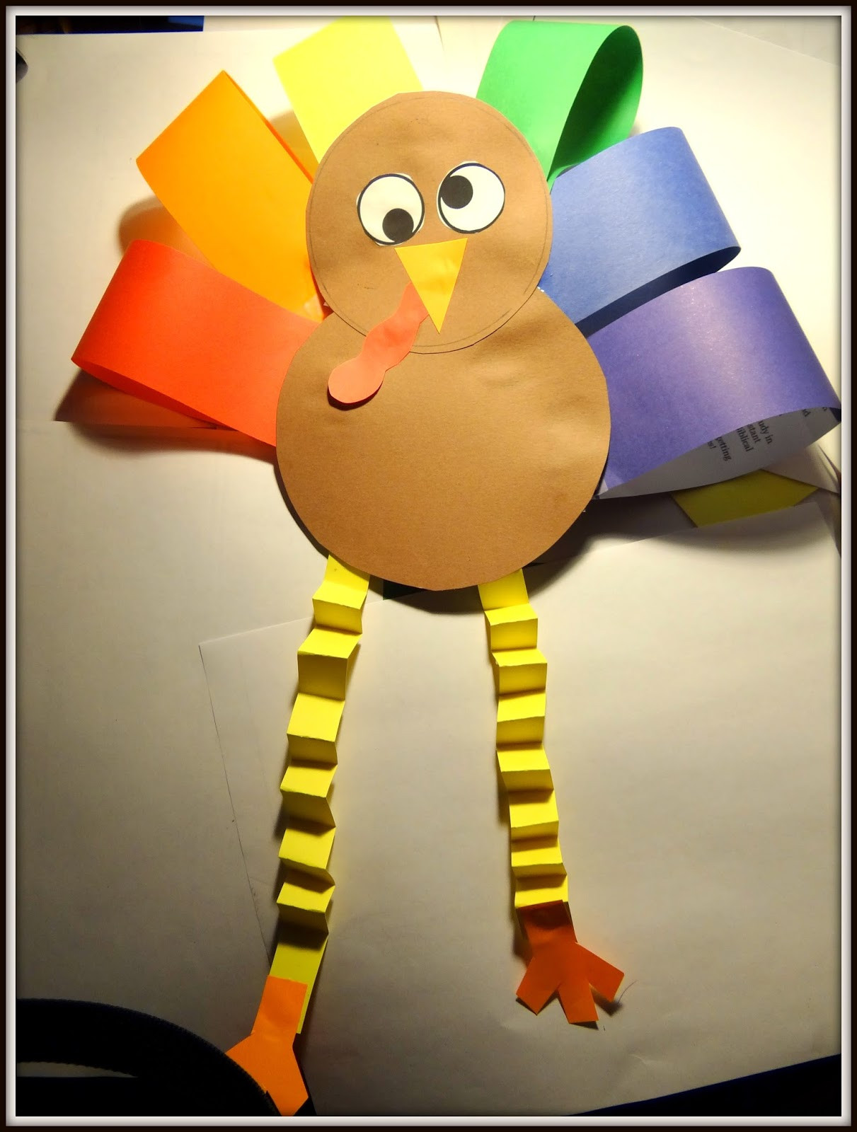 Best ideas about Thanksgiving Art Projects For Preschoolers . Save or Pin PATTIES CLASSROOM Turkey Art Project from Colored Paper Now.