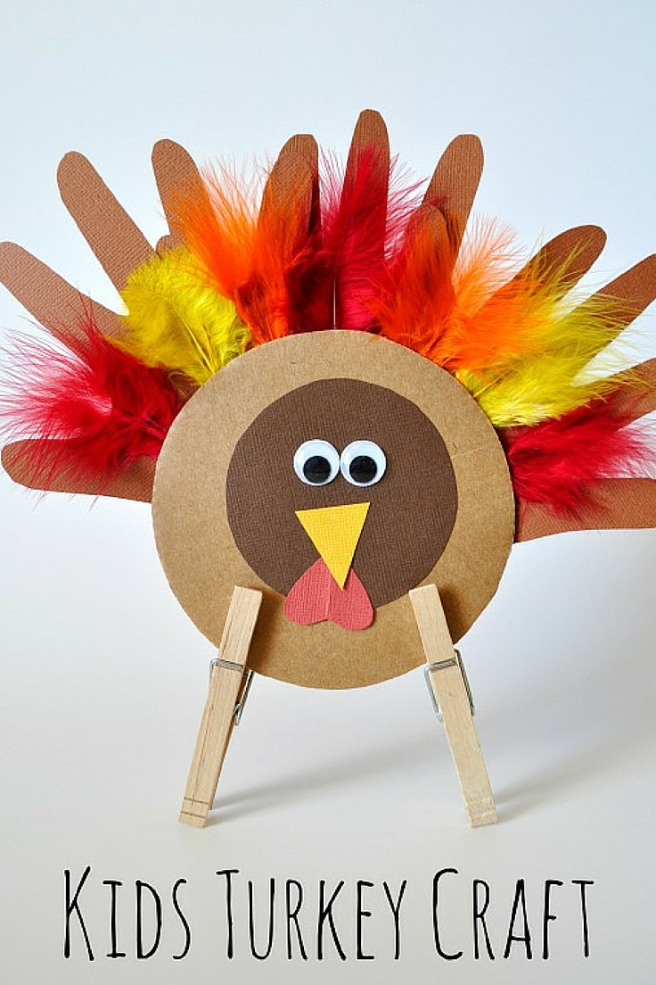 Best ideas about Thanksgiving Art Projects For Preschoolers . Save or Pin Thanksgiving Turkey Craft for Kids Now.