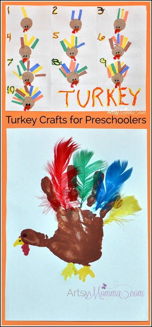 Best ideas about Thanksgiving Art Projects For Preschoolers . Save or Pin Turkey Crafts for Preschoolers Feather Counting Activity Now.