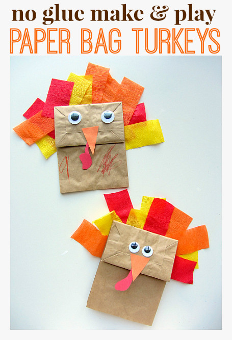 Best ideas about Thanksgiving Art Projects For Preschoolers . Save or Pin No Glue Turkey Craft For Thanksgiving No Time For Now.