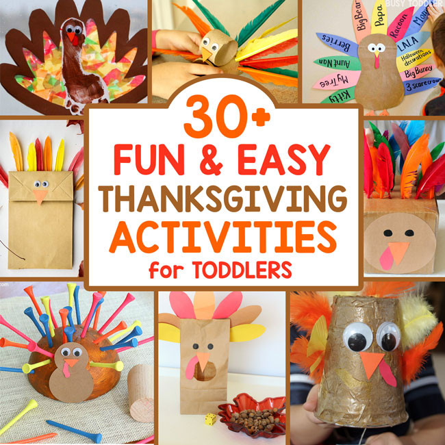 Best ideas about Thanksgiving Art Projects For Toddlers . Save or Pin 30 Thanksgiving Activities for Toddlers Now.