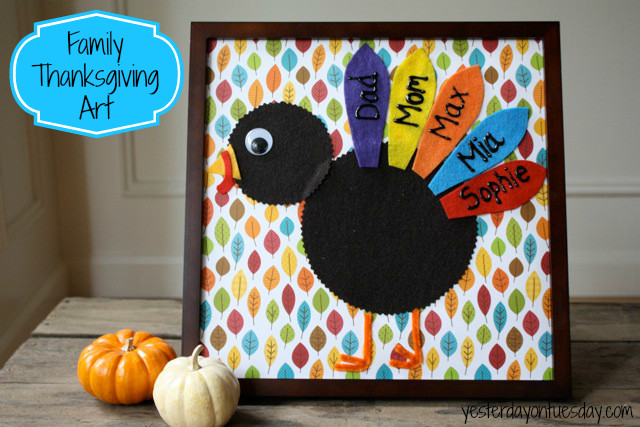 Best ideas about Thanksgiving Art Projects For Toddlers . Save or Pin Family Thanksgiving Art Now.