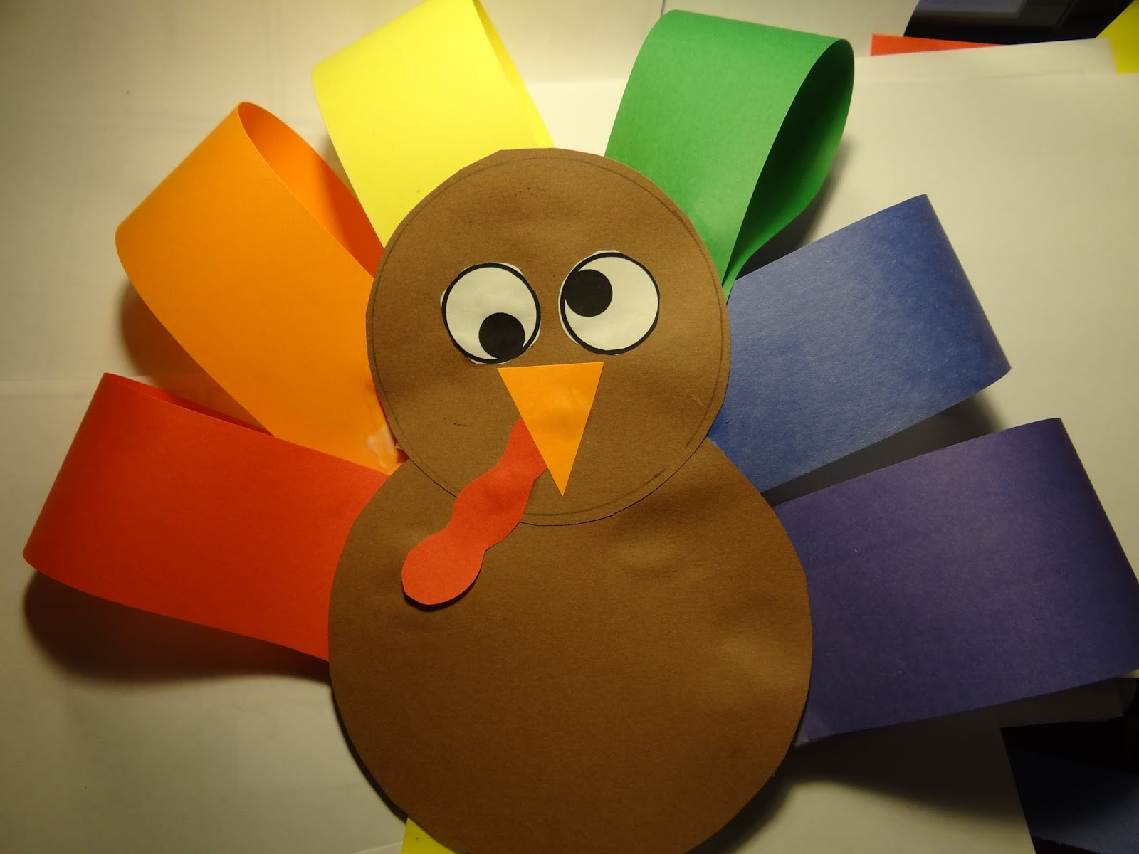 Best ideas about Thanksgiving Art Projects For Toddlers . Save or Pin PATTIES CLASSROOM Turkey Art Project from Colored Paper Now.