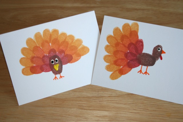 Best ideas about Thanksgiving Arts And Crafts For Kids . Save or Pin fingerprint turkey craft for thanksgiving Red Ted Art s Blog Now.