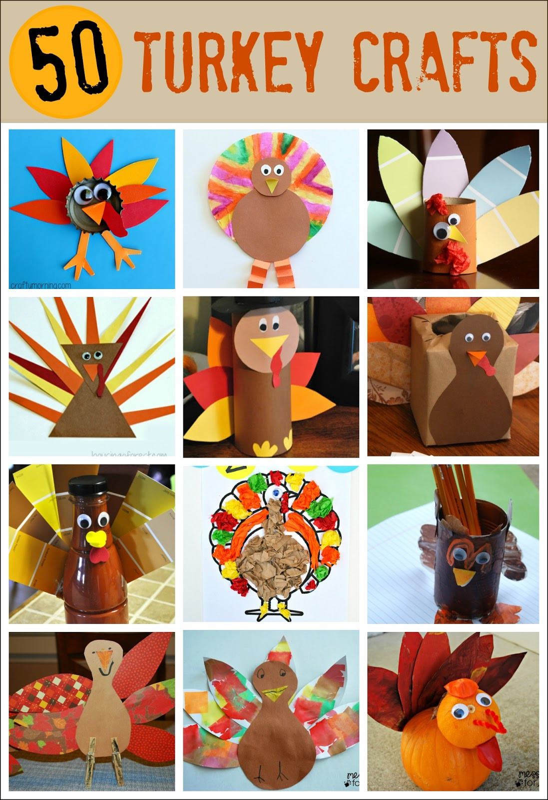 Best ideas about Thanksgiving Craft Ideas For Kids . Save or Pin Thanksgiving Crafts for Kids Pipe Cleaner Turkey Mess Now.