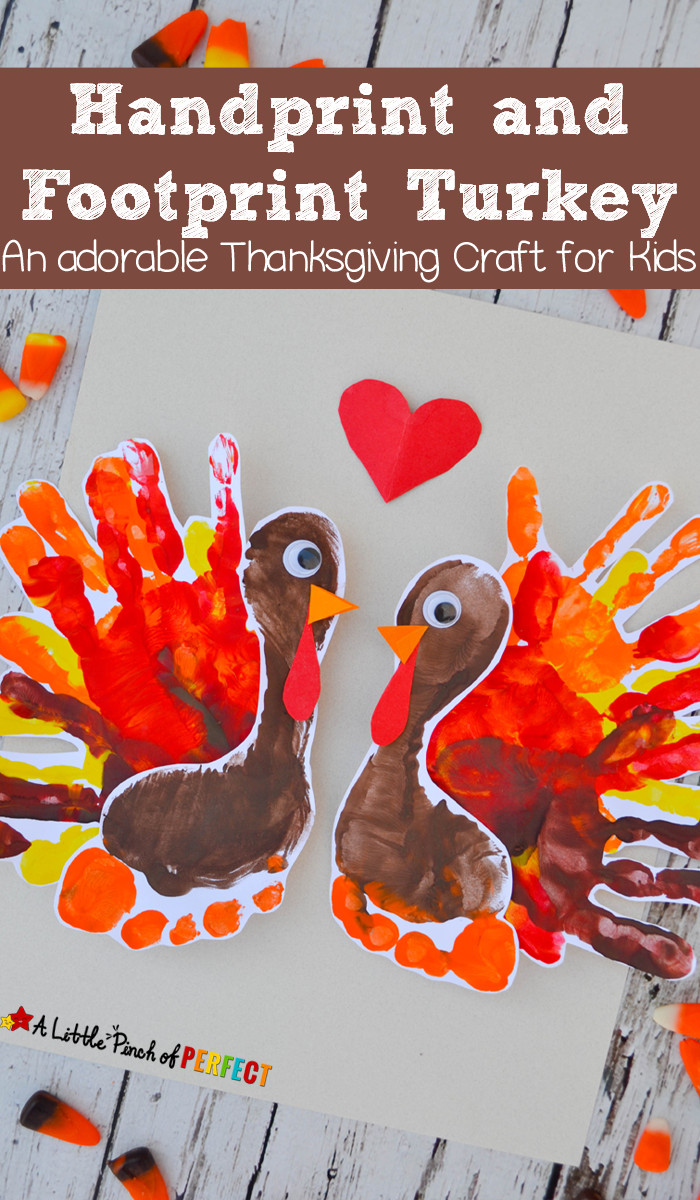 Best ideas about Thanksgiving Crafts For Preschoolers Free . Save or Pin Handprint and Footprint Turkey An adorable Thanksgiving Now.