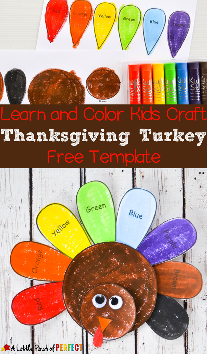 Best ideas about Thanksgiving Crafts For Preschoolers Free . Save or Pin Learn and Color Thanksgiving Turkey Craft and Free Now.