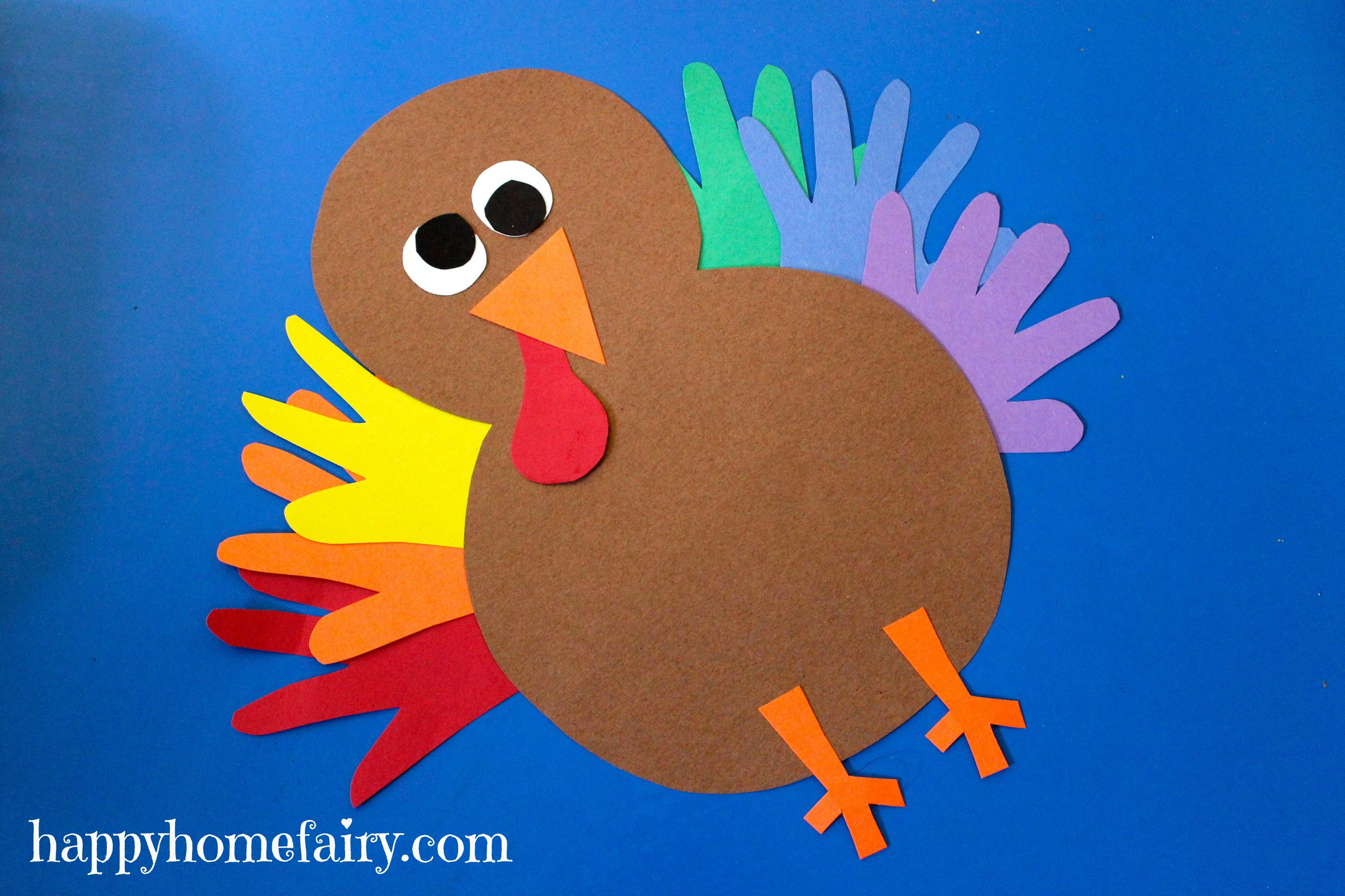 Best ideas about Thanksgiving Crafts For Preschoolers Free . Save or Pin Thankful Handprint Turkey Craft FREE Printable Happy Now.