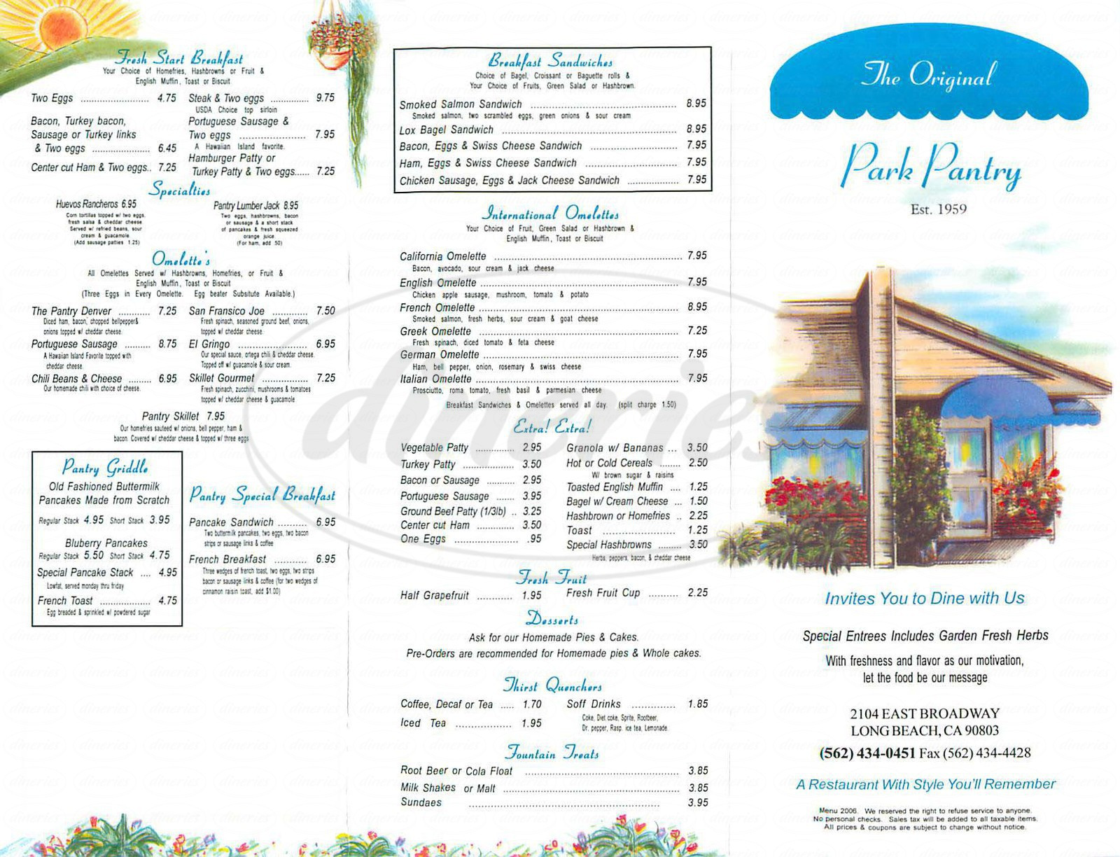 Best ideas about The Pantry Menu . Save or Pin The Original Park Pantry Menu Long Beach Dineries Now.
