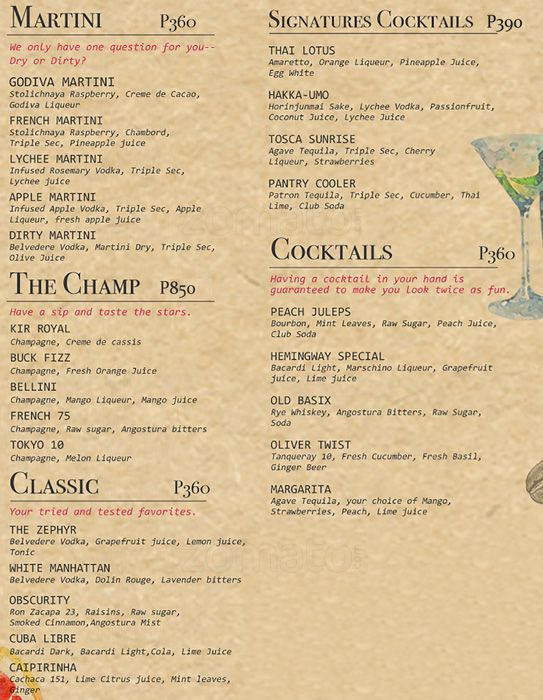 Best ideas about The Pantry Menu . Save or Pin The Pantry Dusit Thani Manila Menu Zomato Philippines Now.