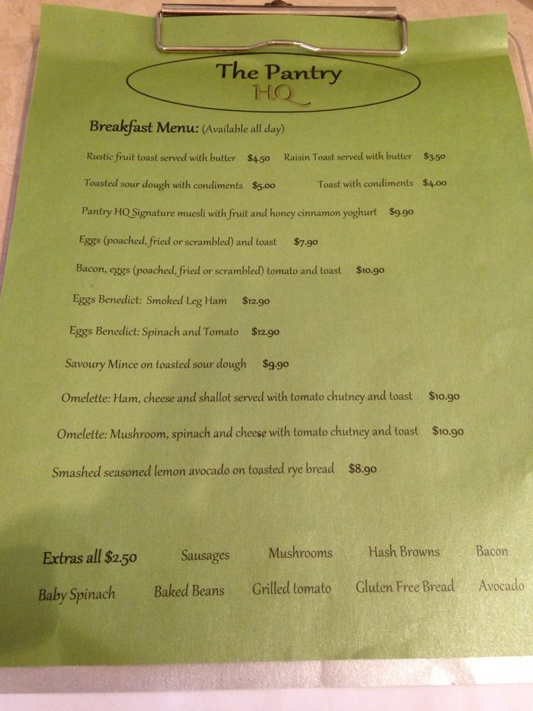 Best ideas about The Pantry Menu . Save or Pin The Pantry HQ Menu Menu for The Pantry HQ Springwood Now.