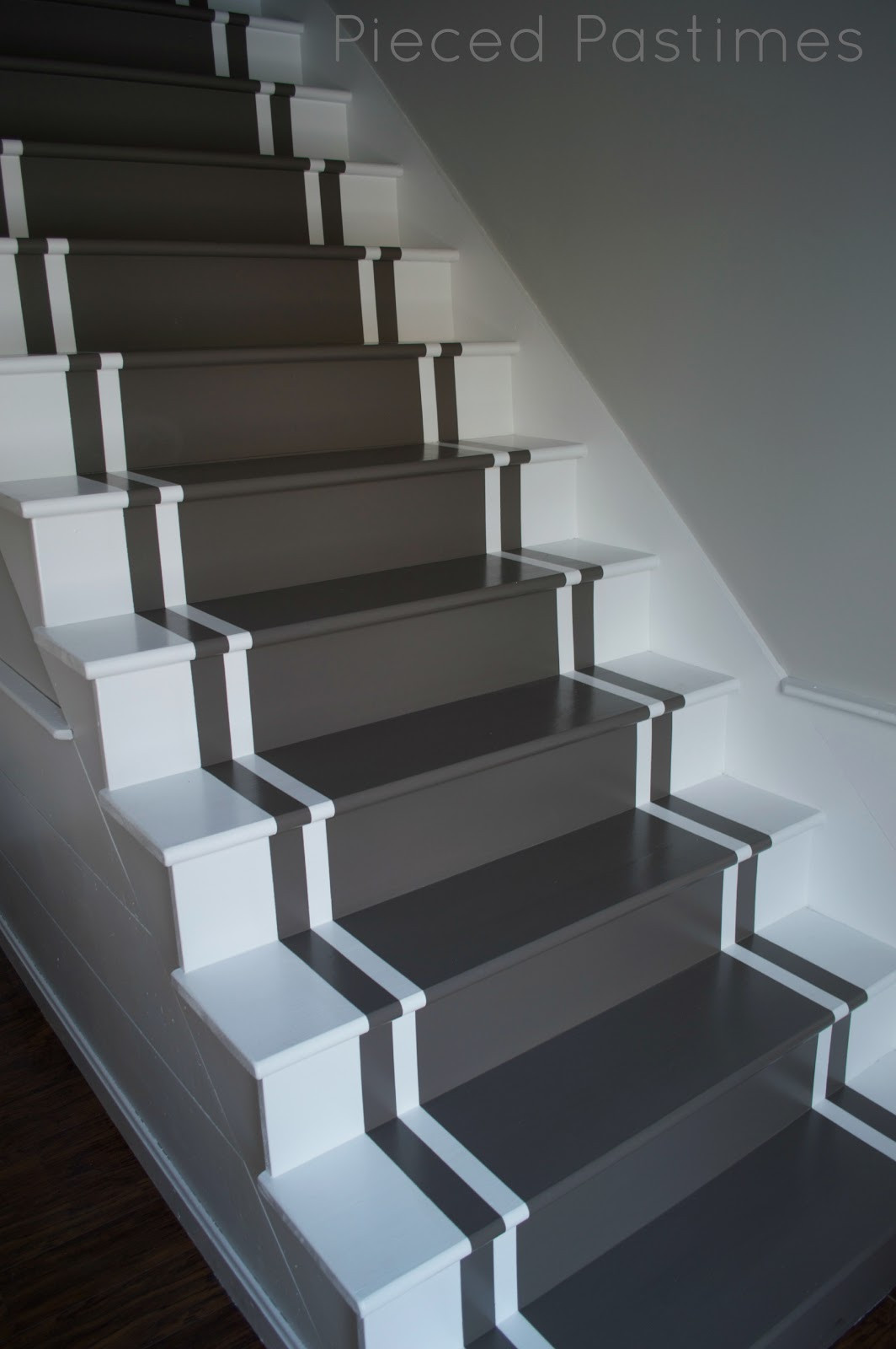 Best ideas about The Staircase 2 . Save or Pin Pieced Pastimes DIY Painted Stair Runner Now.