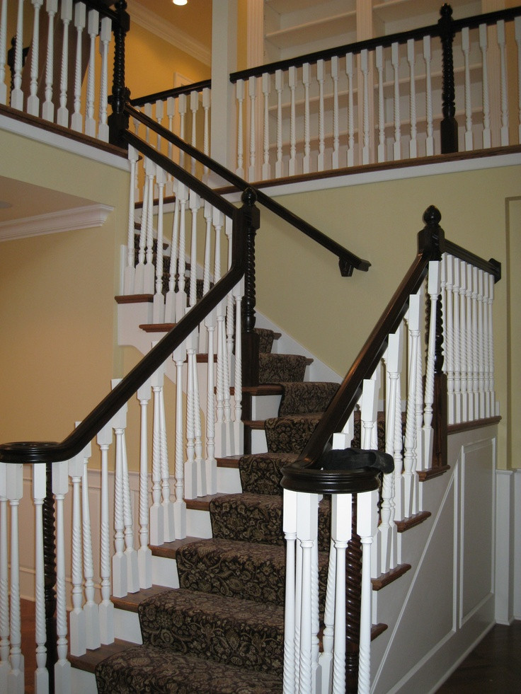 Best ideas about The Staircase 2 . Save or Pin New 2 Story Foyer Staircase in 100 year old home Newly Now.