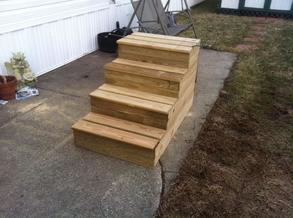 Best ideas about The Staircase Trailer . Save or Pin Unique Wooden Portable Steps for Your Travel Trailer Now.