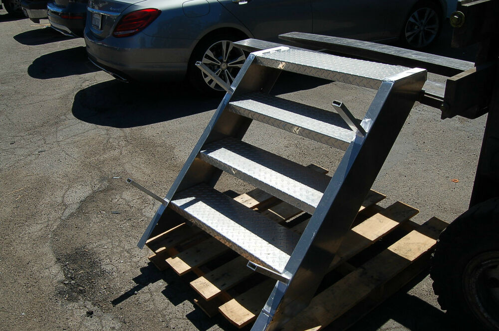 Best ideas about The Staircase Trailer . Save or Pin 4 Step Platform Stage LADDER Aluminum Stairs Truck Trailer Now.