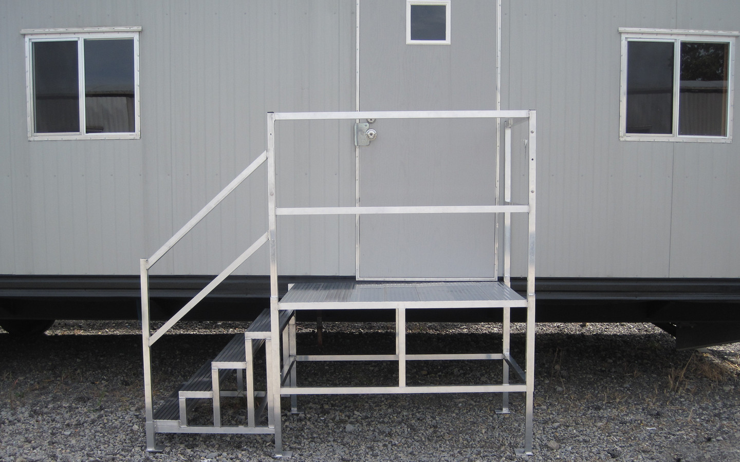 Best ideas about The Staircase Trailer . Save or Pin Portable Aluminum Stairs for Mobile fices Upside Now.