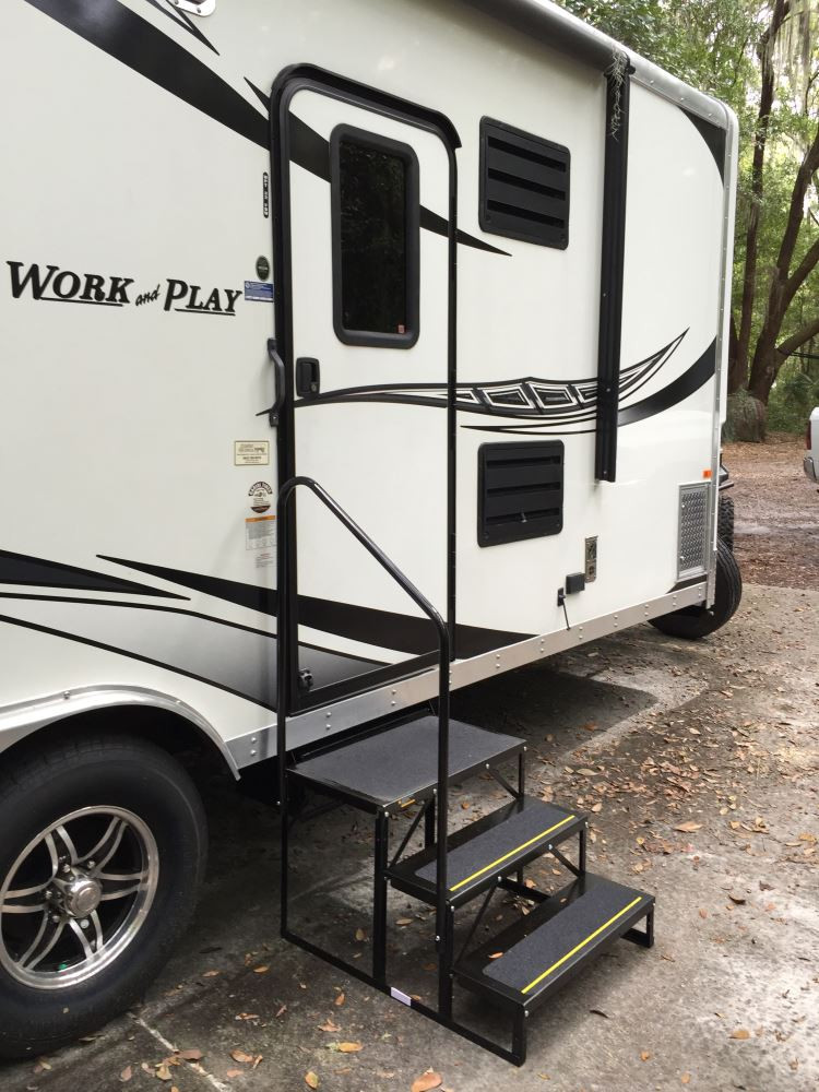 Best ideas about The Staircase Trailer . Save or Pin Econo Porch Trailer Step with Handrail and Landing Now.