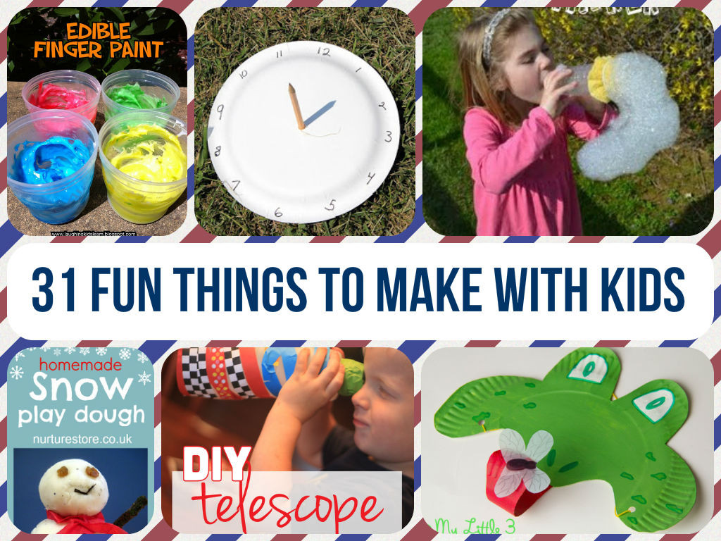 Best ideas about Things To Make With Kids . Save or Pin 31 Fun Crafts To Make With Kids Now.