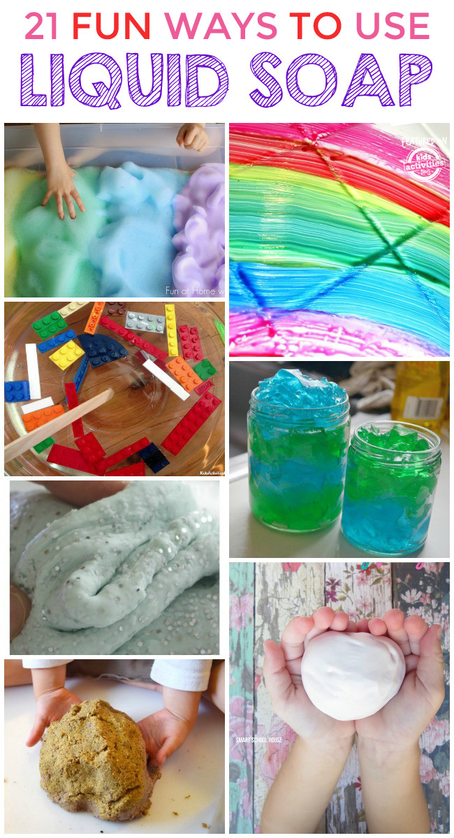 Best ideas about Things To Make With Kids . Save or Pin 21 SUPER COOL THINGS TO MAKE WITH LIQUID SOAP Kids Now.