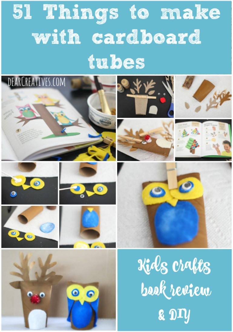Best ideas about Things To Make With Kids . Save or Pin Kids Book Review 51 Things To Do With Cardboard Tubes Now.