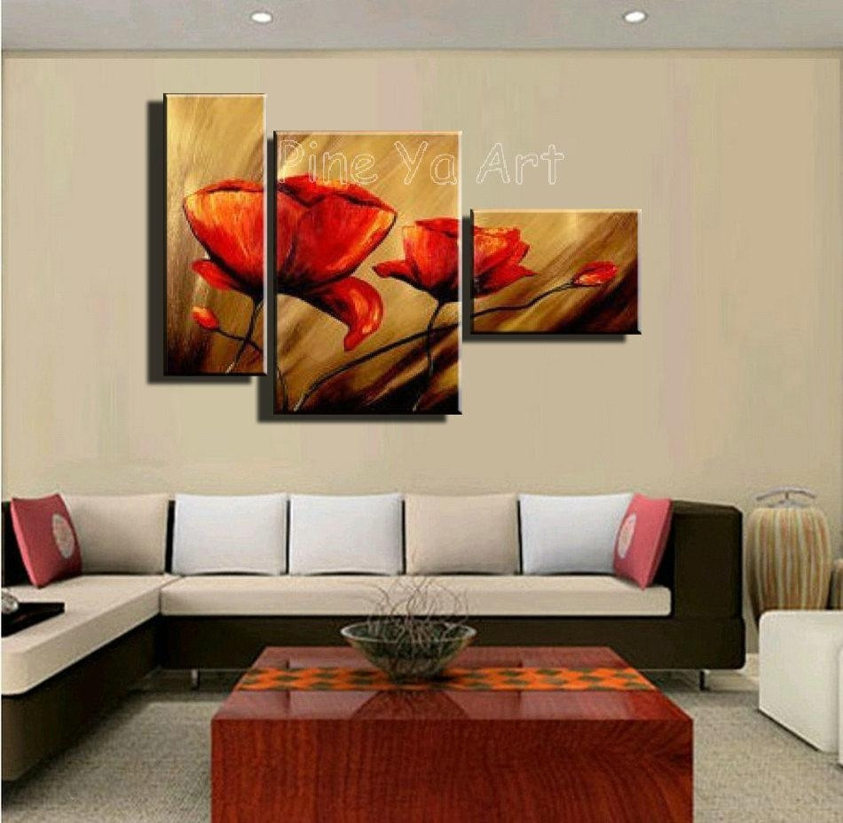 Best ideas about Three Piece Wall Art . Save or Pin 20 Best Ideas 3 Piece Floral Canvas Wall Art Now.