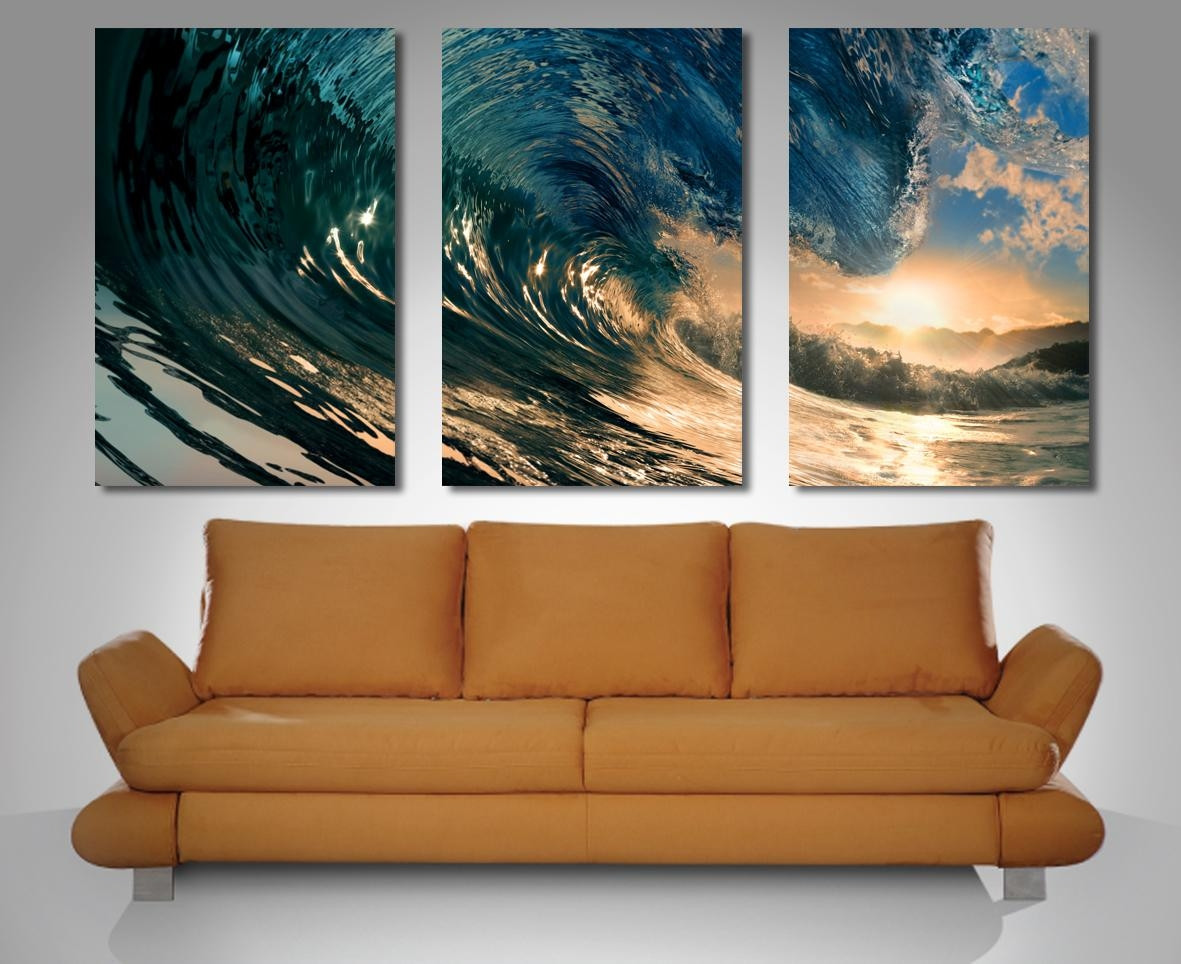 Best ideas about Three Piece Wall Art . Save or Pin 20 Best Ideas 3 Set Canvas Wall Art Now.