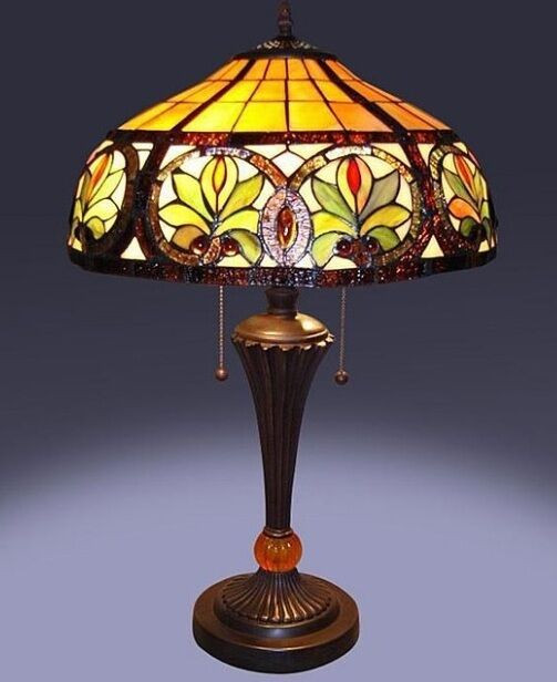 Best ideas about Tiffany Style Desk Lamp . Save or Pin Tiffany Style Glass Sunrise Table Lamp Lamps Shade Now.