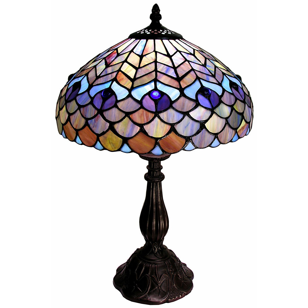 Best ideas about Tiffany Style Desk Lamp . Save or Pin Tiffany style Peacock Table Lamp Free Shipping Today Now.