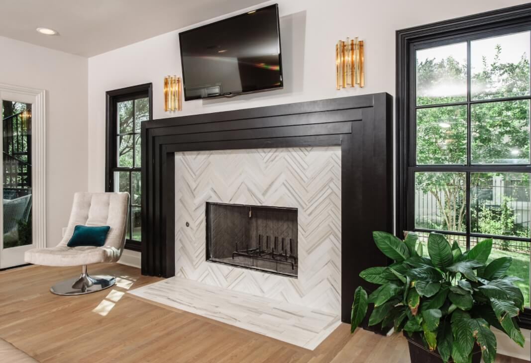 Best ideas about Tile For Fireplace . Save or Pin 19 Stylish Fireplace Tile Ideas for Your Fireplace Surround Now.