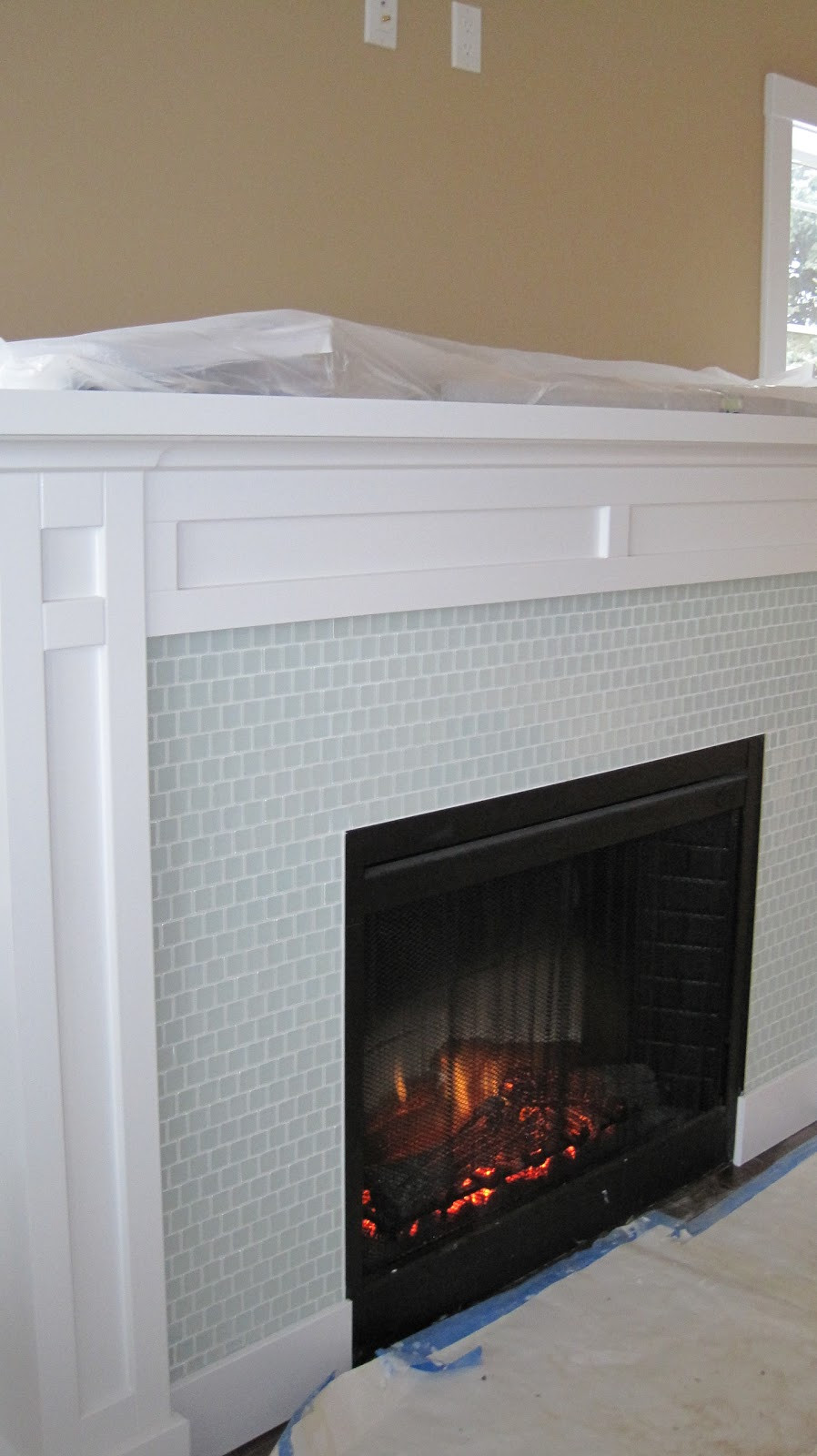 Best ideas about Tile For Fireplace . Save or Pin I Married a Tree Hugger Built in Fireplace with Shelves Now.