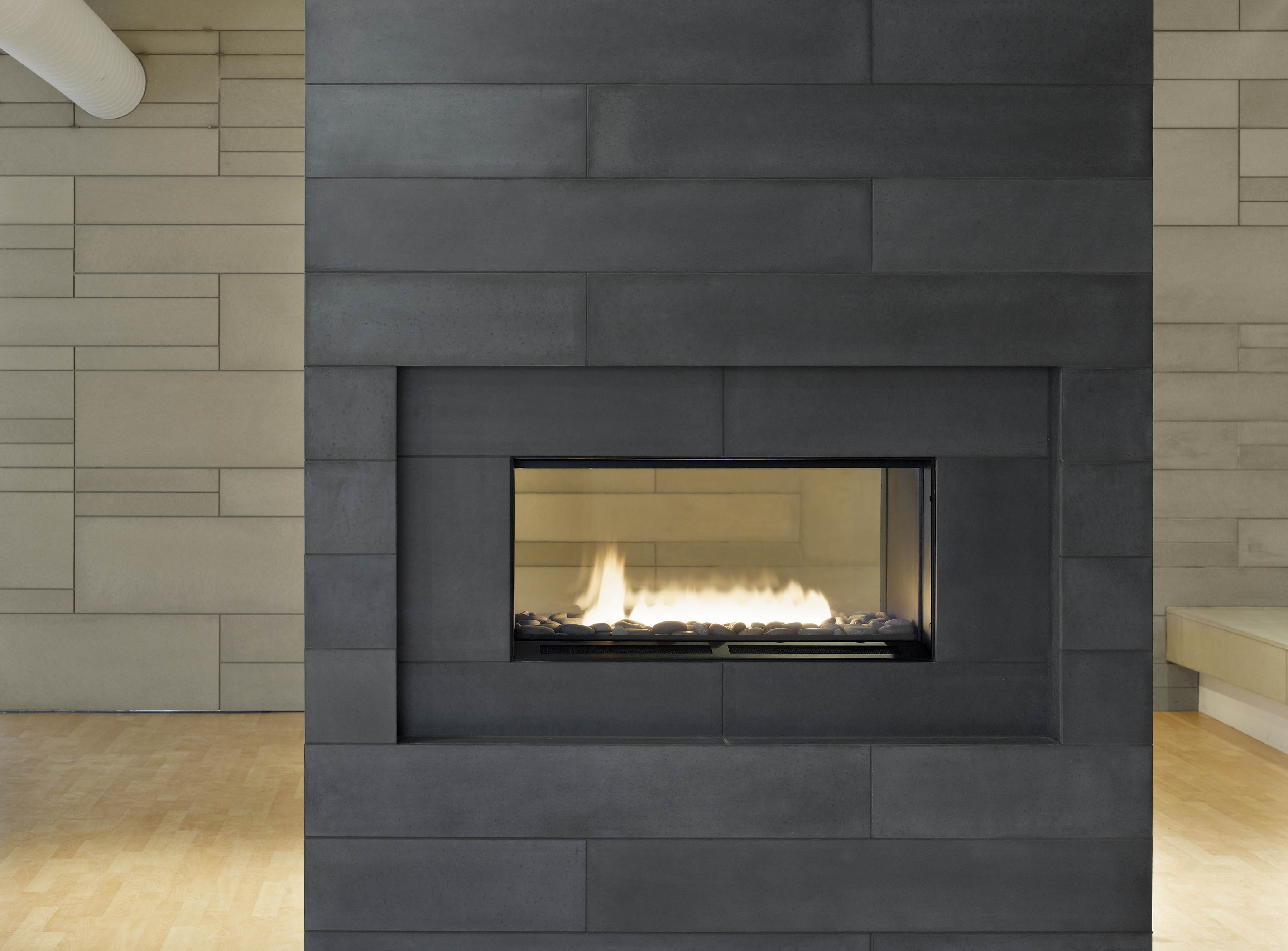 Best ideas about Tile For Fireplace . Save or Pin Fireplace tiles charcoal 2 Now.
