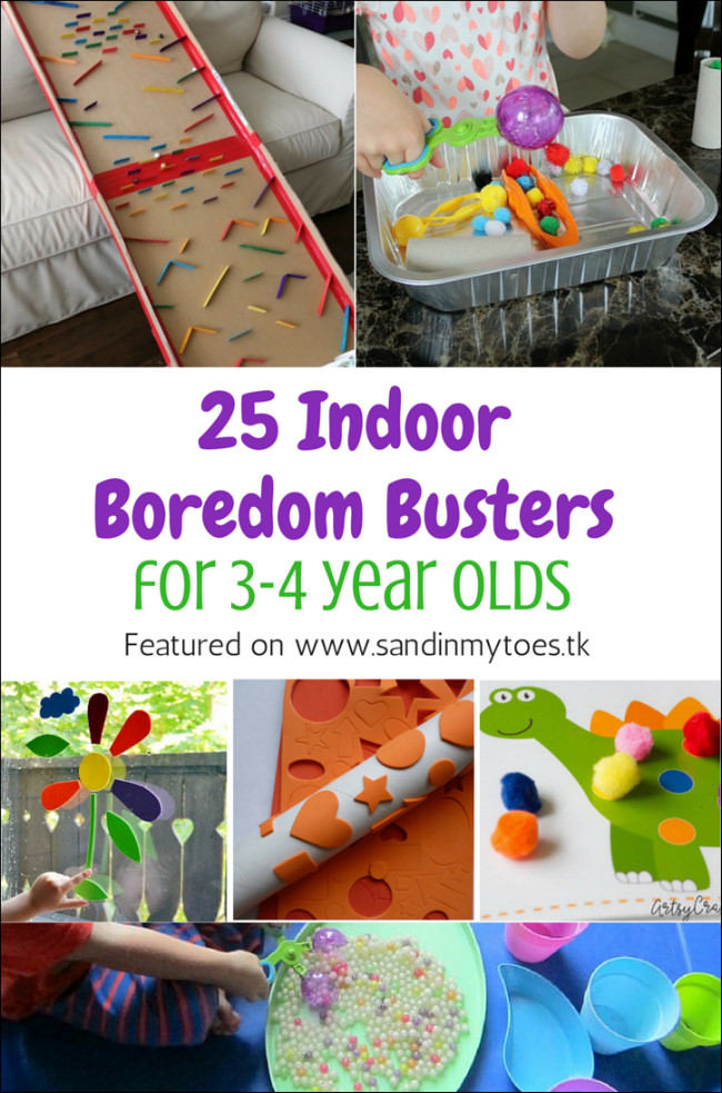 Best ideas about Toddler Craft Ideas 2 Year Old . Save or Pin 25 Indoor Boredom Busters for 3 4 Year Olds Now.